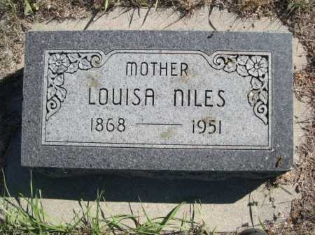 NILES, LOUISA - Dawes County, Nebraska | LOUISA NILES - Nebraska Gravestone Photos
