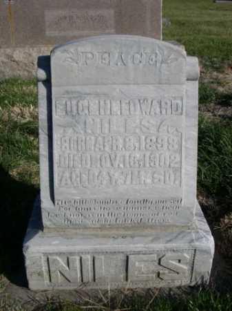 NILES, EUGENE EDWARD - Dawes County, Nebraska   EUGENE EDWARD NILES - Nebraska Gravestone Photos
