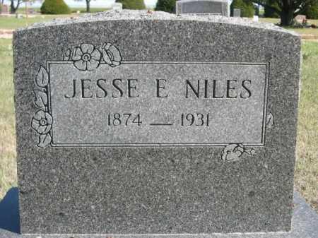 NILES, JESSE E. - Dawes County, Nebraska   JESSE E. NILES - Nebraska Gravestone Photos