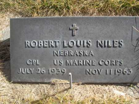 NILES, ROBERT LOUIS - Dawes County, Nebraska | ROBERT LOUIS NILES - Nebraska Gravestone Photos
