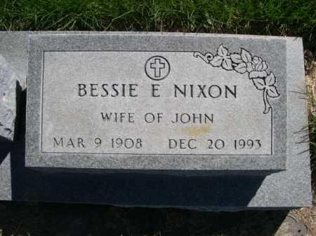 NIXON, BESSIE E. - Dawes County, Nebraska | BESSIE E. NIXON - Nebraska Gravestone Photos