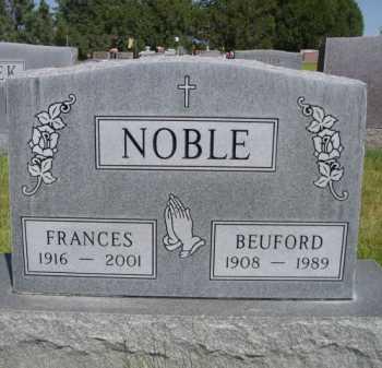 NOBLE, BEUFORD - Dawes County, Nebraska | BEUFORD NOBLE - Nebraska Gravestone Photos