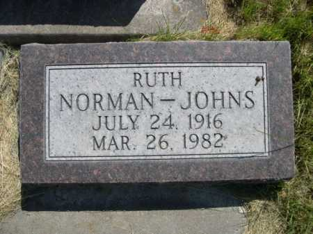 NORMAN - JOHNS, RUTH - Dawes County, Nebraska | RUTH NORMAN - JOHNS - Nebraska Gravestone Photos