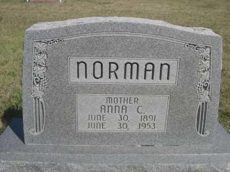 NORMAN, ANNA C. - Dawes County, Nebraska   ANNA C. NORMAN - Nebraska Gravestone Photos