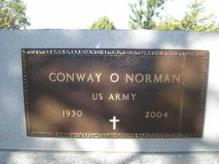 NORMAN, CONWAY O. - Dawes County, Nebraska | CONWAY O. NORMAN - Nebraska Gravestone Photos