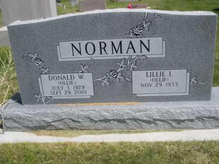 NORMAN, DONALD  W. (OLLIE) - Dawes County, Nebraska | DONALD  W. (OLLIE) NORMAN - Nebraska Gravestone Photos