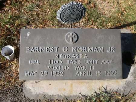 NORMAN, EARNEST G. JR. - Dawes County, Nebraska | EARNEST G. JR. NORMAN - Nebraska Gravestone Photos