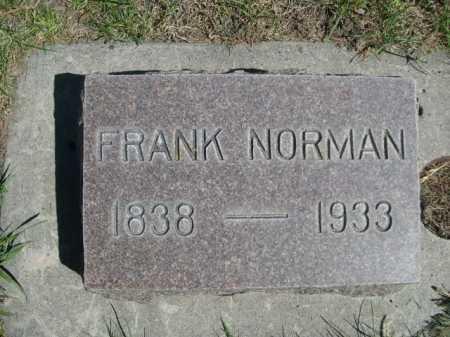 NORMAN, FRANK - Dawes County, Nebraska   FRANK NORMAN - Nebraska Gravestone Photos