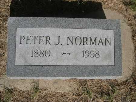 NORMAN, PETER J. - Dawes County, Nebraska   PETER J. NORMAN - Nebraska Gravestone Photos