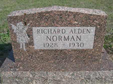 NORMAN, RICHARD ALDEN - Dawes County, Nebraska | RICHARD ALDEN NORMAN - Nebraska Gravestone Photos