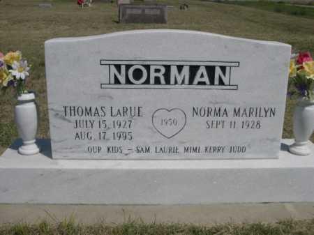 NORMAN, THOMAS LARUE - Dawes County, Nebraska | THOMAS LARUE NORMAN - Nebraska Gravestone Photos
