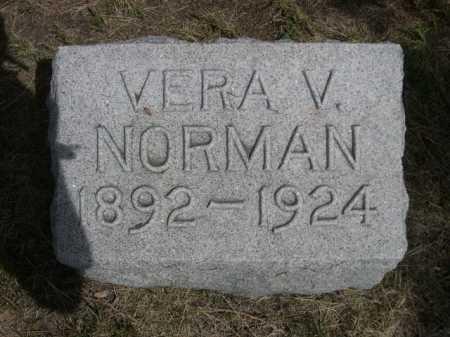 NORMAN, VERA V. - Dawes County, Nebraska | VERA V. NORMAN - Nebraska Gravestone Photos