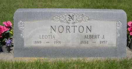 NORTON, ALBERT J. - Dawes County, Nebraska | ALBERT J. NORTON - Nebraska Gravestone Photos