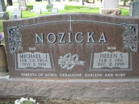 NOZICKA, HELEN S. - Dawes County, Nebraska | HELEN S. NOZICKA - Nebraska Gravestone Photos