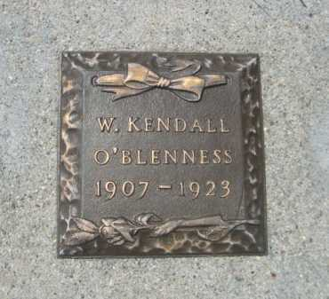 O'BLENNESS, W. KENDALL - Dawes County, Nebraska | W. KENDALL O'BLENNESS - Nebraska Gravestone Photos