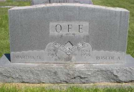 OFE, ROSCOE A. - Dawes County, Nebraska | ROSCOE A. OFE - Nebraska Gravestone Photos