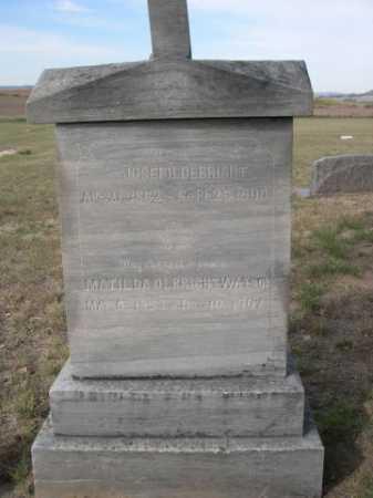 WATSON, MATILDA - Dawes County, Nebraska | MATILDA WATSON - Nebraska Gravestone Photos