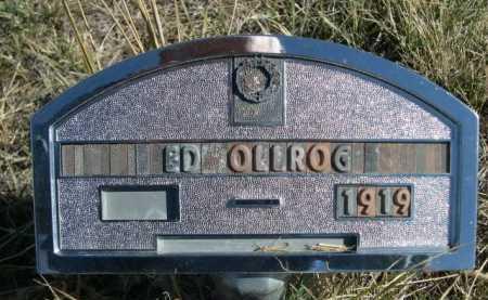 OLLROG, ED - Dawes County, Nebraska   ED OLLROG - Nebraska Gravestone Photos