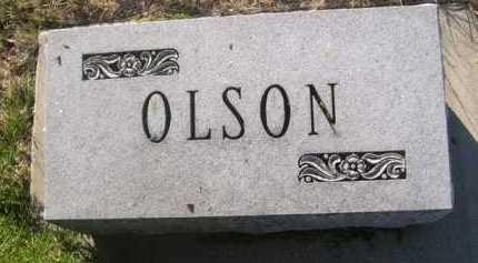 OLSON, FAMILY - Dawes County, Nebraska   FAMILY OLSON - Nebraska Gravestone Photos