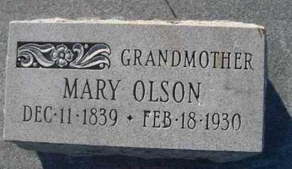 OLSON, MARY - Dawes County, Nebraska | MARY OLSON - Nebraska Gravestone Photos