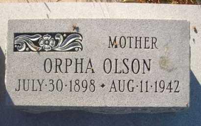 OLSON, ORPHA - Dawes County, Nebraska   ORPHA OLSON - Nebraska Gravestone Photos