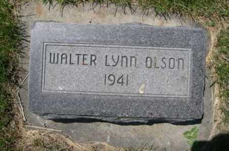 OLSON, WALTER LYNN - Dawes County, Nebraska | WALTER LYNN OLSON - Nebraska Gravestone Photos