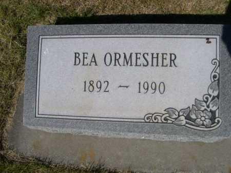 ORMESHER, BEA - Dawes County, Nebraska | BEA ORMESHER - Nebraska Gravestone Photos