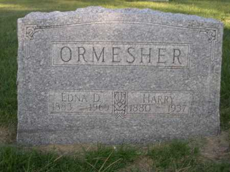 ORMESHER, HARRY - Dawes County, Nebraska | HARRY ORMESHER - Nebraska Gravestone Photos