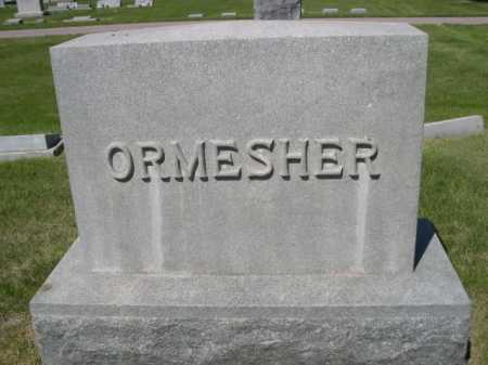 ORMESHER, FAMILY - Dawes County, Nebraska | FAMILY ORMESHER - Nebraska Gravestone Photos