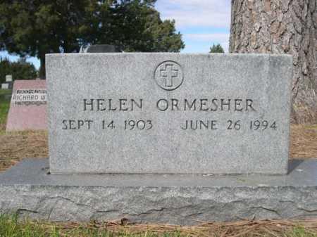 ORMESHER, HELEN - Dawes County, Nebraska | HELEN ORMESHER - Nebraska Gravestone Photos