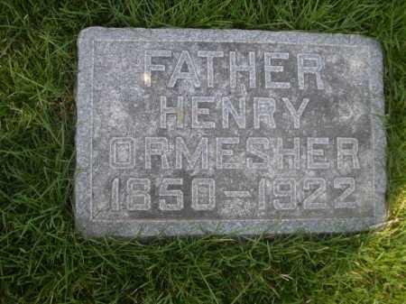 ORMESHER, HENRY - Dawes County, Nebraska | HENRY ORMESHER - Nebraska Gravestone Photos