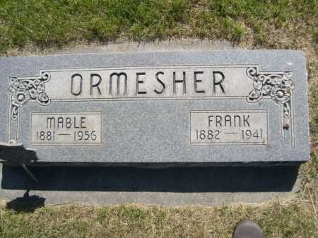 ORMESHER, MABLE - Dawes County, Nebraska | MABLE ORMESHER - Nebraska Gravestone Photos