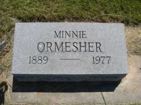 ORMESHER, MINNIE - Dawes County, Nebraska | MINNIE ORMESHER - Nebraska Gravestone Photos
