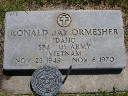 ORMESHER, RONALD JAY - Dawes County, Nebraska | RONALD JAY ORMESHER - Nebraska Gravestone Photos