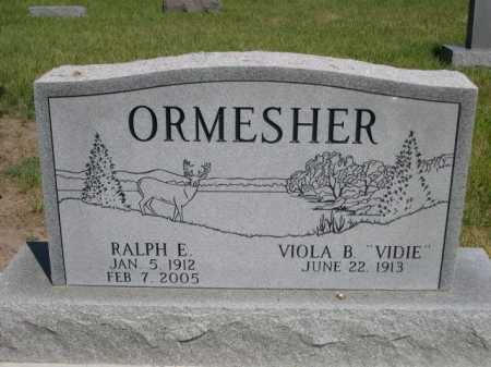 ORMESHER, RALPH E. - Dawes County, Nebraska | RALPH E. ORMESHER - Nebraska Gravestone Photos