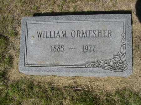 ORMESHER, WILLIAM - Dawes County, Nebraska | WILLIAM ORMESHER - Nebraska Gravestone Photos