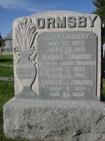 ORMSBY, THOMAS J. - Dawes County, Nebraska | THOMAS J. ORMSBY - Nebraska Gravestone Photos