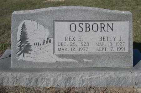 OSBORN, REX E. - Dawes County, Nebraska   REX E. OSBORN - Nebraska Gravestone Photos