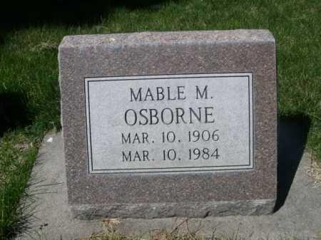 OSBORNE, MABLE M. - Dawes County, Nebraska   MABLE M. OSBORNE - Nebraska Gravestone Photos