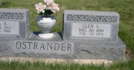OSTRANDER, GLEN V. - Dawes County, Nebraska | GLEN V. OSTRANDER - Nebraska Gravestone Photos