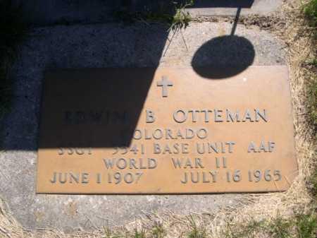 OTTEMAN, EDWIN B. - Dawes County, Nebraska   EDWIN B. OTTEMAN - Nebraska Gravestone Photos