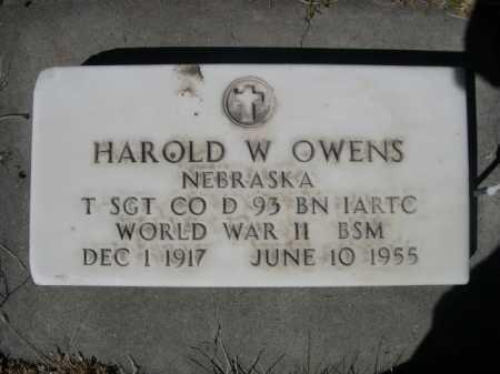 OWENS, HAROLD W. - Dawes County, Nebraska | HAROLD W. OWENS - Nebraska Gravestone Photos