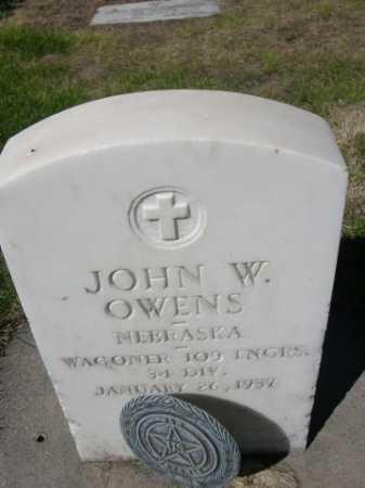 OWENS, JOHN W. - Dawes County, Nebraska   JOHN W. OWENS - Nebraska Gravestone Photos