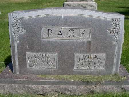 PACE, JAMES W. - Dawes County, Nebraska | JAMES W. PACE - Nebraska Gravestone Photos