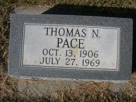 PACE, THOMAS N. - Dawes County, Nebraska | THOMAS N. PACE - Nebraska Gravestone Photos