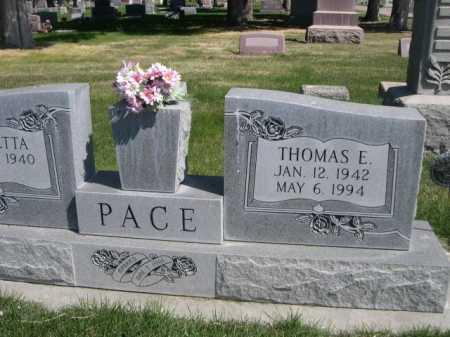 PACE, THOMAS E. - Dawes County, Nebraska | THOMAS E. PACE - Nebraska Gravestone Photos