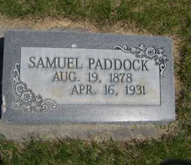 PADDOCK, SAMUEL - Dawes County, Nebraska | SAMUEL PADDOCK - Nebraska Gravestone Photos