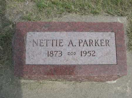 PARKER, NETTIE - Dawes County, Nebraska | NETTIE PARKER - Nebraska Gravestone Photos