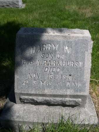 PARKHURST, HARRY W. - Dawes County, Nebraska | HARRY W. PARKHURST - Nebraska Gravestone Photos