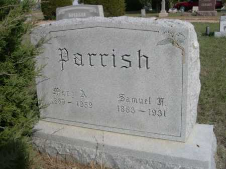 PARRISH, SAMUEL - Dawes County, Nebraska | SAMUEL PARRISH - Nebraska Gravestone Photos